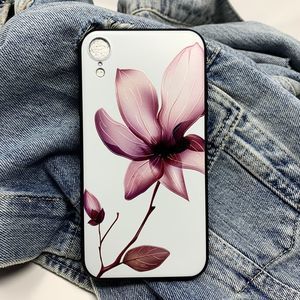iPhone XS Max Case, Floral Silicone Case